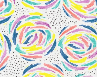 Cloud9 Brush Strokes Organic Cotton Fabric