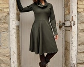 Debbie Dress ~ Organic Bamboo Fleece ~ Made to Orderi