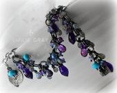 RESERVED FOR 'C' ~ The IOLANDER Bracelet ~  oxidised silver, amethyst, labradorite, kunzite quartz tanzanite, turquoise chainmaille bracelet