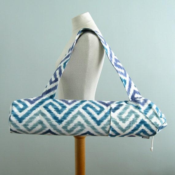 Yoga Bag. Yoga Gift For Mom. Ikat Maze Yoga Mat Bag. Geometric