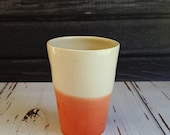 Small Dipped Cup, Made to Order, Handmade Cup, Small Porcelain Cup, Juice Cup, Wine Cup, Whiskey Cup, Dipped Cup, Two Tone Cup