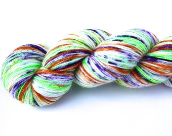 Nerds--PREORDER--hand dyed sock yarn, 2ply merino and nylon, (400yds/100gm)