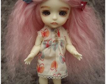Light Pink tibetan mohair wig for lati yellow/pukifee/tiny delf