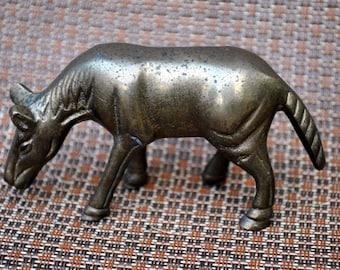 Brass Horse Figurine Vintage Standing