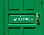 Welcome Door Decal Farmhouse Kitchen Decor Door Decoration  Entrance sign Office decor Welcome words Front porch decor Farmhouse Pantry