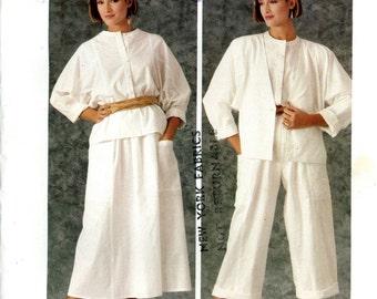 Vogue 1347 American Designer Carol Horn Wardrobe Jacket Blouse Skirt Pants Size 10 Uncut Vintage Sewing Pattern
