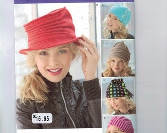 Accessories Sewing Pattern Simplicity 1959 Misses Cap Fleece Winter Fleece Hats Gloves and Scarves Accessories UNCUT