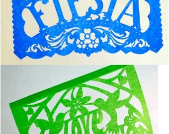 LAST CHANCE - Ready-Made - Fiesta Wedding papel picado banners package