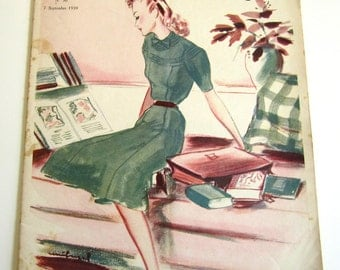 1930's Vintage French Magazine La Mode Pratique September, 1939 WWII Fashion & Sewing Pattern