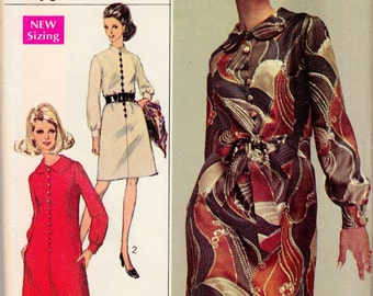 "Vintage Sewing Pattern 1960's Simplicity 7803 Ladies' A-line Dress 34"" Bust - Free Pattern Grading E-book Included"