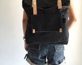 HAPPY NEW YEAR Sale - 25% off // Allison in Black // Backpack / Satchel / Rucksack / Laptop / Tote / Women/ For Her / For Him