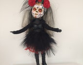 CALAVERAS DOLL - A OOAK Rescued Repainted Completely Changed Bratz Doll. Buy a Repainted Doll and Save a Tree!