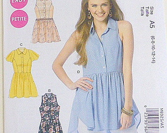 McCalls M6925 Easy Petite Teens Misses Casual Top, Tunic, Dress  Sizes 6, 8, 10, 12, 14  Altered Couture Refashion Pattern