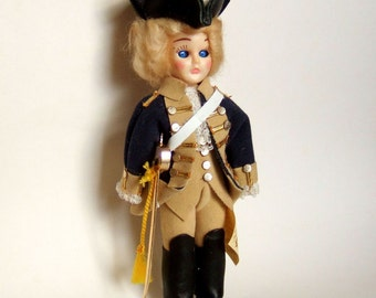 Vintage George Washington Doll - Carlson Souvenir Costume Doll in Uniform