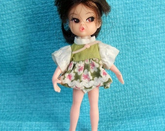 1960s Dolly Darling Doll with Clone Body - Cute Little Vintage Doll