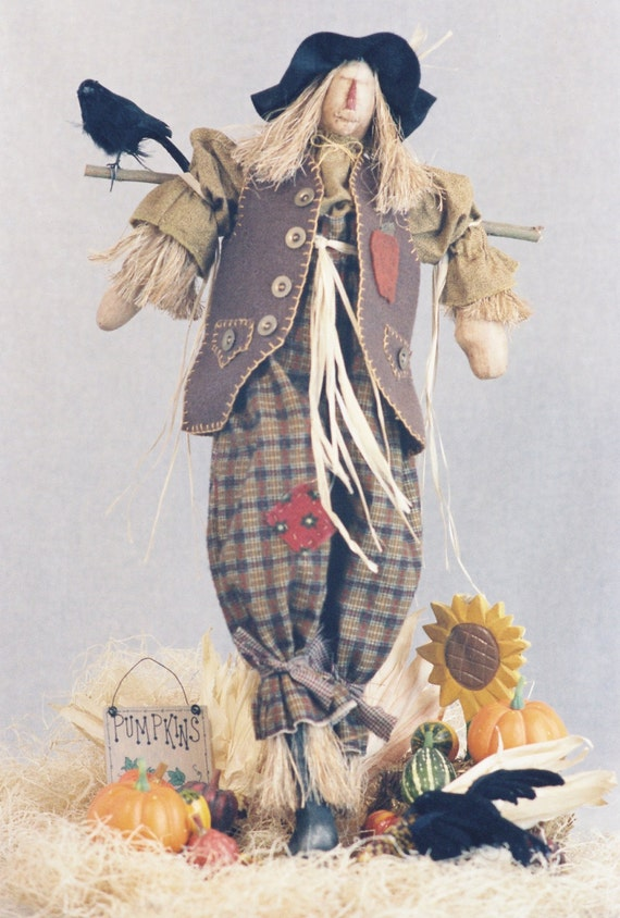 Mailed Cloth Doll Pattern - 24in Halloween Scarecrow