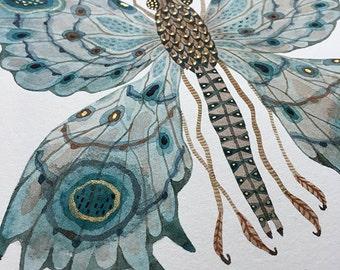 Butterfly MEROPE, original watercolor painting