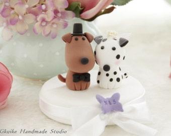 dogs Wedding Cake Topper-love dog ,Dalmatian---k8222