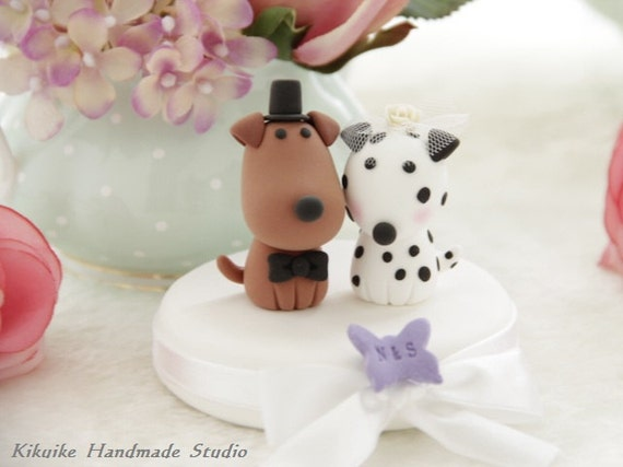 dogs Wedding Cake Topper-love dog ,Dalmatian---k8222