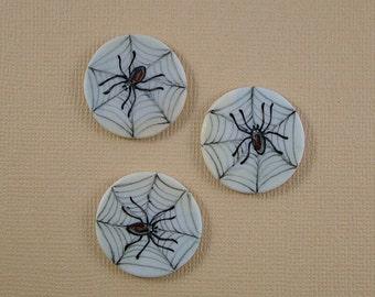 Spider Button set of 3