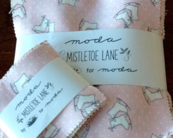 Mistletoe Lane 68 Each Large and Mini Charm Packs