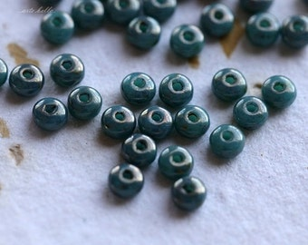 PERSIAN METALLIC BITS .. 50 Premium Czech Glass Rondelle Beads 2x3mm (5022-50)