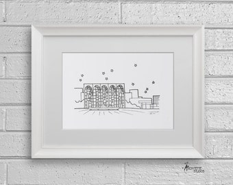 Sketch Series - Lincoln Center, New York City - Art Print (5 x 7)