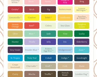 Paper Color Swatch Chart