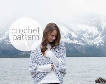 Pattern / Ozetta Crochet Pattern Chunky Oversized Knit Cardigan Sweater Shrug Kimono Instant Download For The Oomingmak