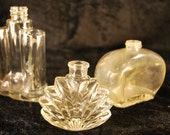 Vintage Perfume Bottles SET of 3