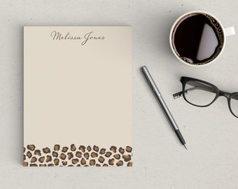 Personalized Notepad Leopard Print