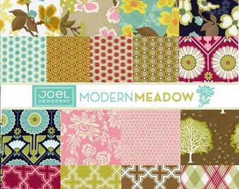 Joel Dewberry Modern Meadow cotton fabric -  fat quarter set of 17
