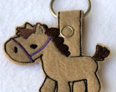 Horse Key chain Fobs, Purse or Backpack Charms Five colors available