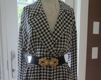 Vintage Womens Summer Dress Skort Romper Adrianna Papell Size 14 Silk - Final Clearance