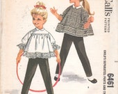 1960s McCalls 6461 Girls Smock Top and Pull On Pants Pattern HELEN LEE  Childs Vintage Sewing Pattern Size 5 Breast 23 UNCUT