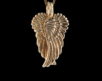 Angel Wing Necklace 14k Gold - Guardian Angel Wing Pendant - Angel Wing Jewelry - Wing Necklace - Wing Charm - Angel Necklace Angel Charm