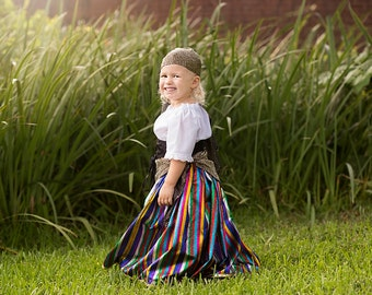 Little Girl Circus Birthday Outfit - Gypsy Halloween Costume - Carnival Birthday - Toddler Costume - Boutique Outfit - 2T to 10 years