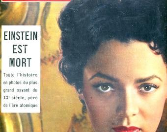 "1955 - PARIS Match,French Revue - Cannes Festival Dorothy DANDRIDGE the "" Black Carmen"" - EINSTEIN is dead - Best Actress Grace Kelly   -"
