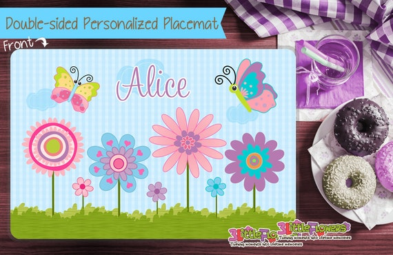 personalized spring placemat personalized placemat for kids