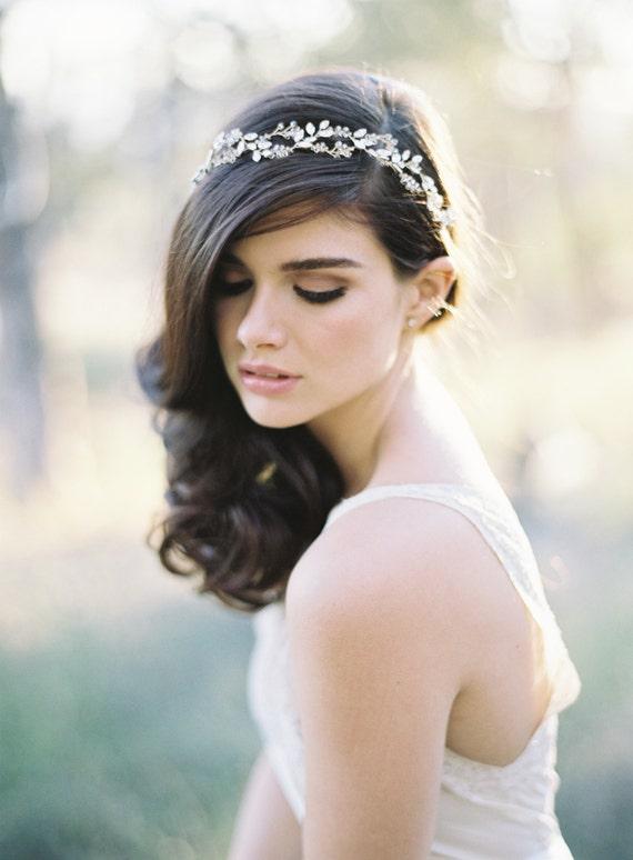 Bridal Halo, Swarovski Crystal Halo, Gilded Halo, Gold Halo, Rose Gold Halo, Silver Halo, Boho Halo, Crystal Wreath, Hair Jewelry, 1616
