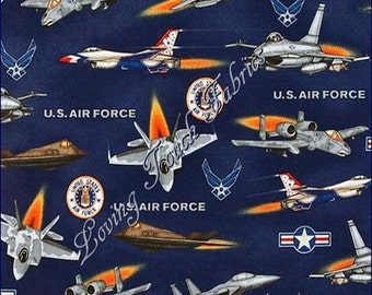 "Robert Kaufman ""United We Stand"" 8705-11 Royal US Air Force Military Fabric Priced Per 1/2 Yd."