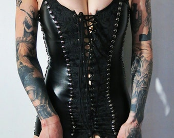 Hell Couture Medieval Shadow Mini Dress