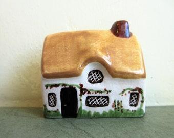 Vintage Cottage, English Cottage, Around the Corner, Suffolk House, Made in England, Miniature Cottage, Mini Village, Tiny Ceramic House