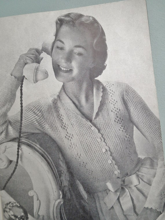 Vintage Knitting Patterns 1940s 1950s Womens Simple To Make