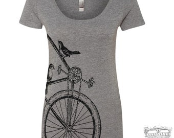 Womens Sparrow BIKE Scoop Neck Tee - T Shirt S M L XL XXL (+ Colors)