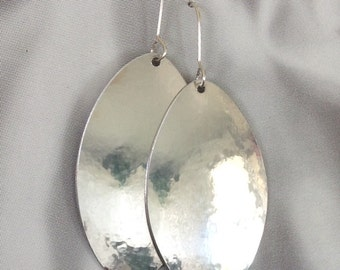 MARANDA Silver Aluminum Oval Dangly Earrings