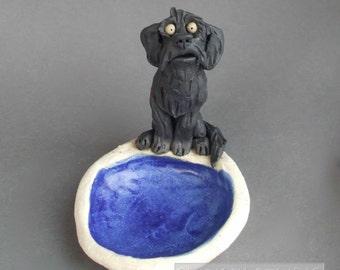 Doodle Dog Whimsical Ceramic Dish