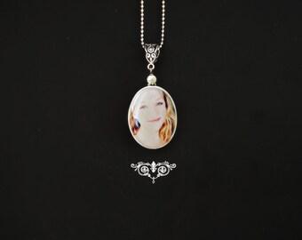 Haley photo portrait tile pendant    ))) fits European style Jewelries (((