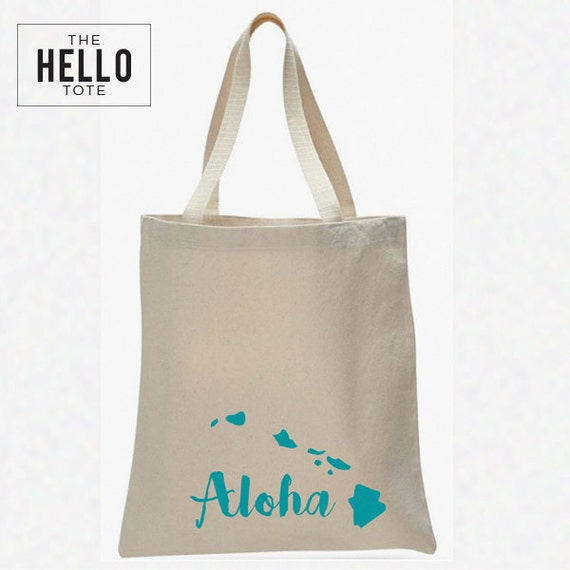 ... Hawaii Tote Bag Order 1 or More Gift, Welcome Bag, Wedding Favor