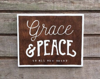 Grace and Peace Handpainted Sign